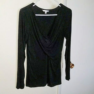 Black CAbi long sleeve knit top EUC